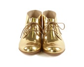 Womens Chukka Boots | GOLD Genuine Leather Chukka Shoes | Handmade in Italy