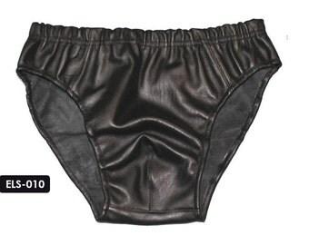 Genuine Soft Lambskin Leather Men Shorts Boxer Underwear