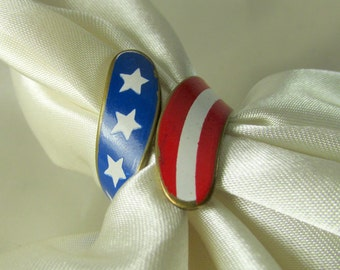Stars & Stripes Patriotic Vintage Ring