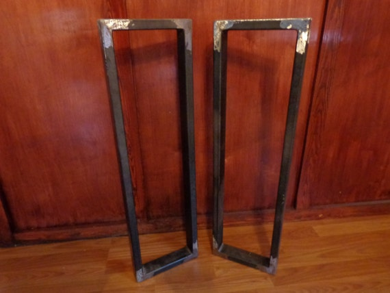 welded metal table legs by southernmetaldesign on etsy