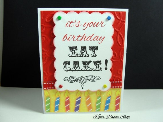 Birthday Card, Greeting Card, Happy Birthday Card, Handmade Card