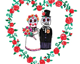 Wedding Mexican Day of the Dead Dolls