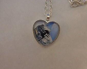 Karen Carpenter Solo Pic Heart Necklace