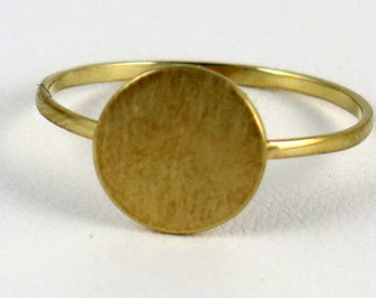 Sterling silver with gold vermeil circle ring.