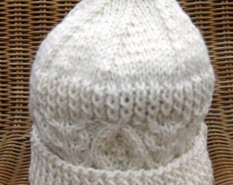Childrens Aran Ski Hat