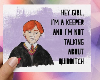 Ron Weasley Harry Potter Keeper Funny Love Card