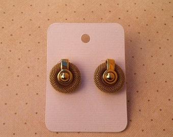 Gold Vintage Circular Earrings