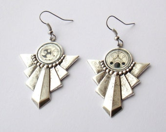 Doctor Who Earrings --Gallifreyan Ceremonial Earrings