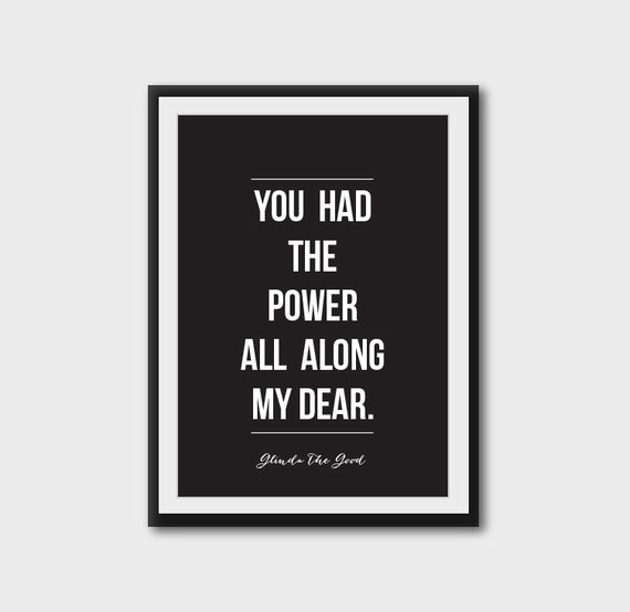 You had the power all along, my dear powerful etsy posters international women's day 2015