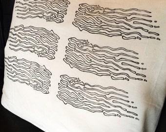 """Kelp Pillow 20""""x20"""" handprinted"""