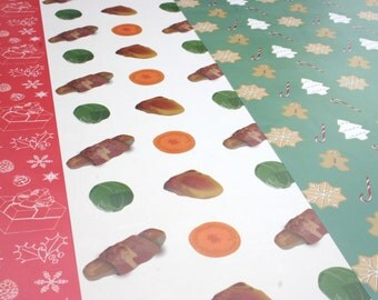 Christmas Wrapping Paper, 6 x Assorted Christmas Wrapping Paper Sheets, Christmas Gift Wrap