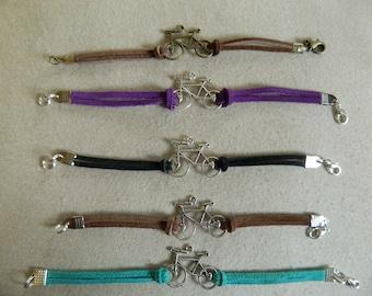 handmade various colored bike charm bracelets