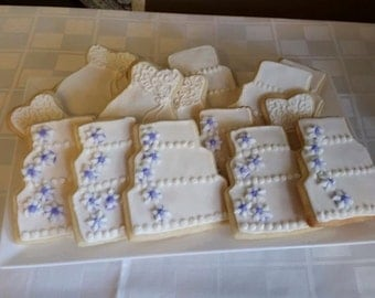 12 Custom Bridal Shower and Wedding Sugar Cookies - Made for Any Theme, Any Colors!