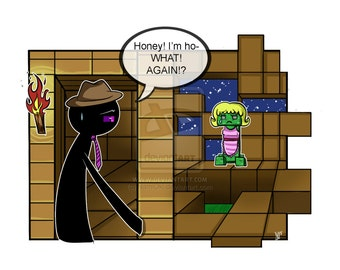 Again!? - Minecraft Print