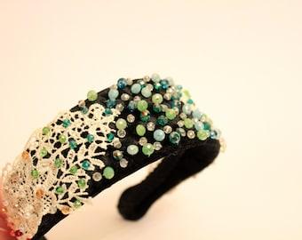 weihnachtsgeschenk diadem stirnband barock breites haarband. Black Bedroom Furniture Sets. Home Design Ideas