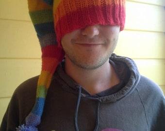 MADE TO ORDER - Rainbow Pixie -  Beanie