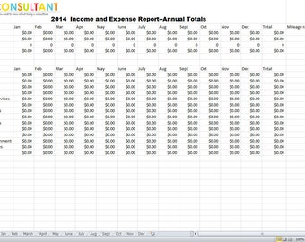 Income and Expense Report For Taxes 2014