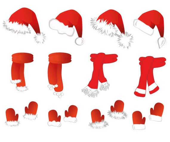 santa claus kost m clipart weihnachten santas m tze von. Black Bedroom Furniture Sets. Home Design Ideas