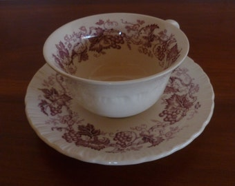 Wedgewood Old Vine pattern cup and saucer circa