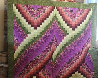 Twisted Bargello Bed Quilt