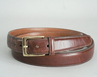 Mens Brown Leather Belt Size 42/105