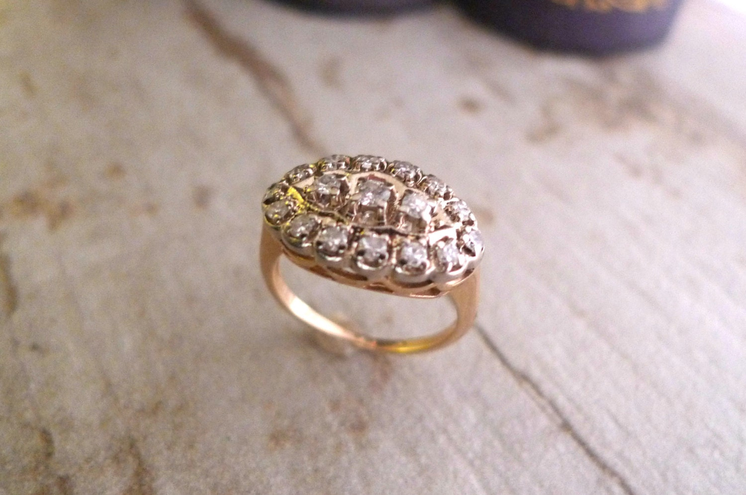 vintage engagement ring antique cocktail ring circa 1930s