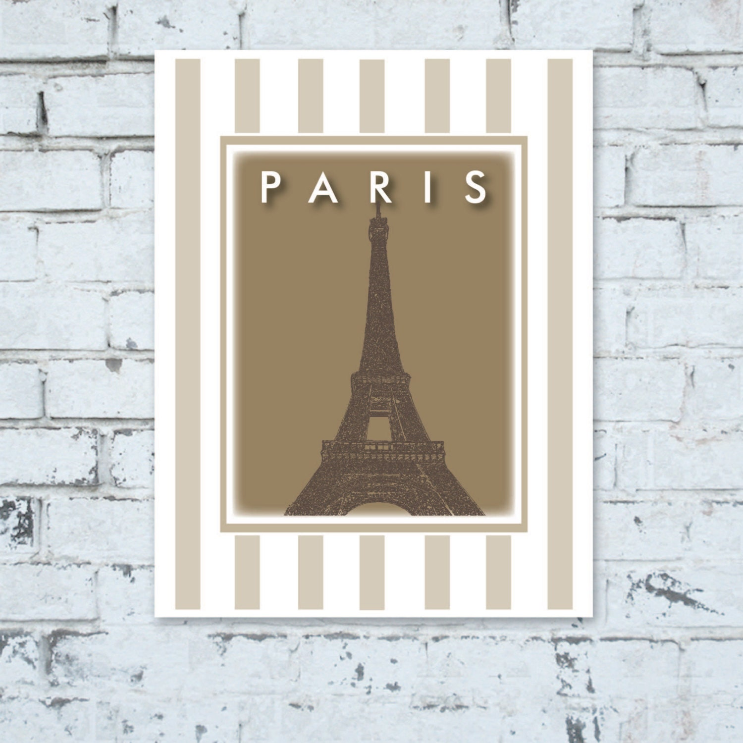 Small Eiffel Tower Wall Decor : Paris eiffel tower art print wall decor zrc by portofprints