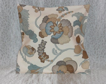 Blue/Brown Print Pillow Cover