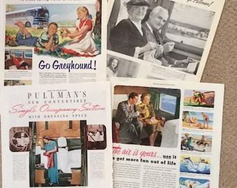 Vintage travel ads 11 x 14 originals