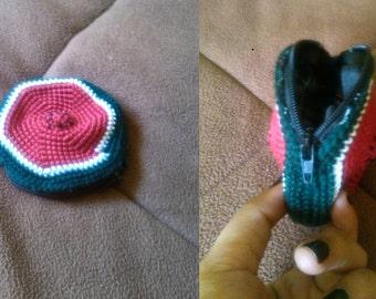 Watermelon purse crocheted