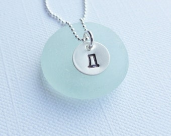 Sterling Silver Russian - Cyrillic - Initial Necklace