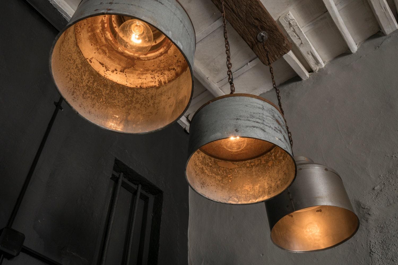 galvanized light rustic industrial lighting by eskidenvol2 on Etsy
