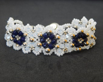 Victorian Lace Crystal and Pearl Bracelet