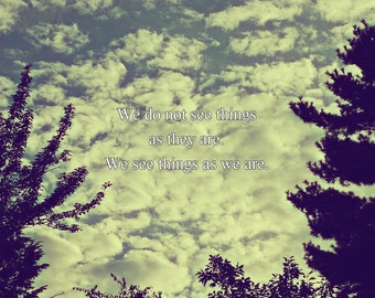 Outdoor Photography, Quote, New Hampshire, Clouds, Nature Photography