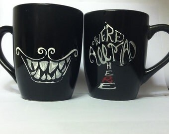 Cheshire Cat Smile Mug Set