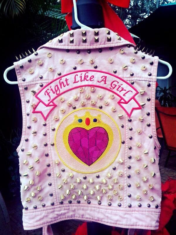 Punk Vest Sailor Moon Vest Jacket Sailor Moon Patch Spikes