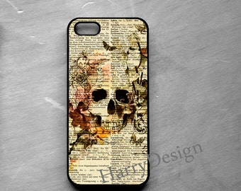 Flower Skull  iPhone 6, iPhone 6 Plus, iPhone 4 / 4s / 5 / 5s /5c case, Samsung Galaxy S3 / S4 / S5 case, Samsung Note 2, Note 3, 4 case