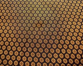 Black Silk Brocade Fabric Fat Quarter India