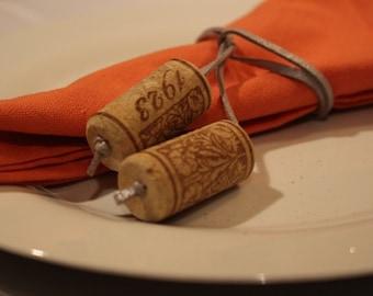 Wine Cork & Rope Napkin Ring