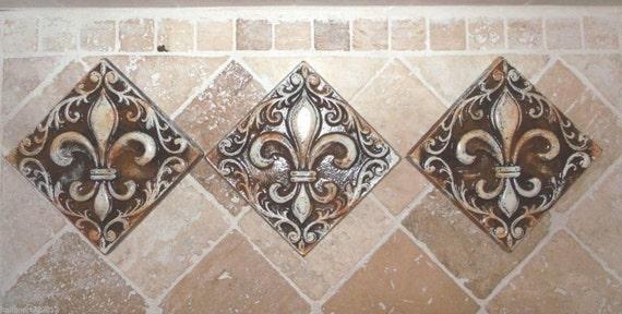 Fleur De Lis Tile Home Decor
