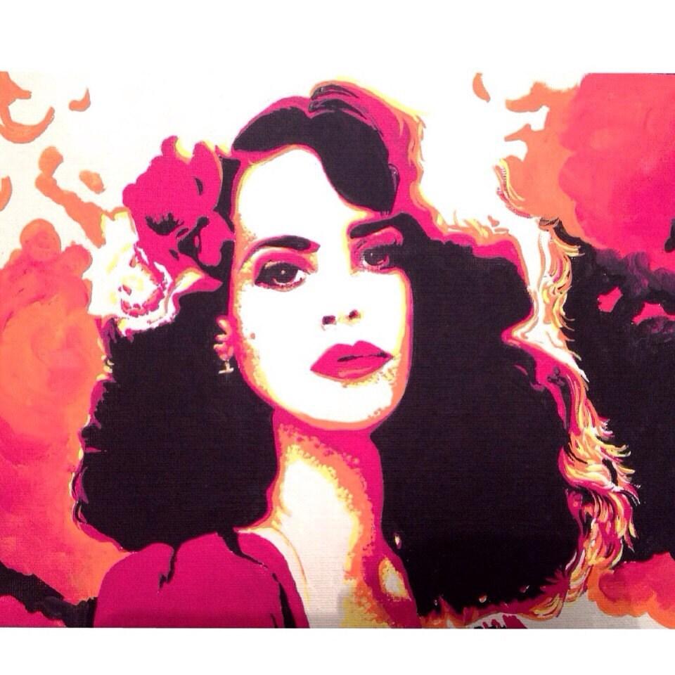 Lana Del Rey Oil Painting