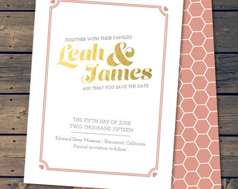 Golden Day / Save The Date Wedding Announcement