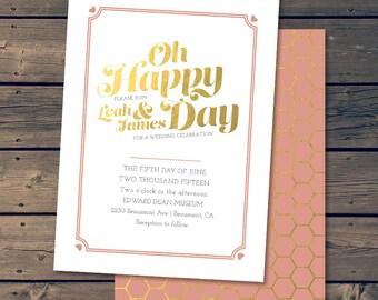 Golden Day / Wedding Invitation