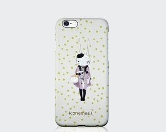 Rabbit iPhone Case, Bunny iPhone Case, Rabbit lover gift, Mauve coat by Fifi Lapin, iPhone 6, 6s, 6 Plus, 6s Plus, 5s, 5c 4s Samsung