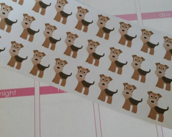 Airedale Terrier Stickers! Dog Stickers! Perfect for your Erin Condren Life Planner, calendar, Paper Plum, Filofax!