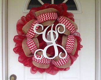 J intial wreath