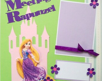 Rapunzel premade 12x12 scrapbook page shadow box art Disney keepsake