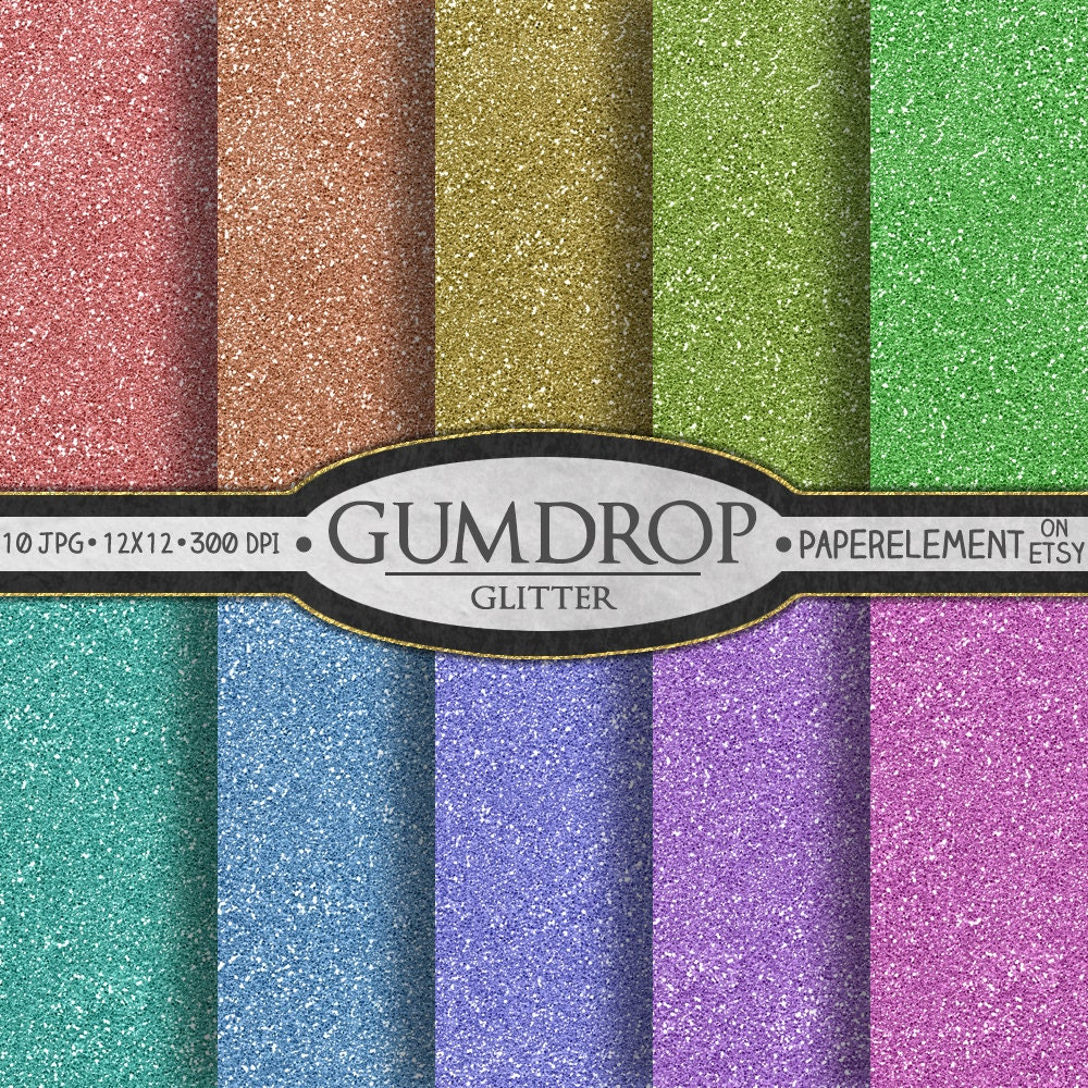 How to scrapbook with glitter paper - Glitter Digital Paper Pack Gumdrop Candy Digital Paper Printable Christmas Scrapbook Backgrounds With Rainbow Digital Paper