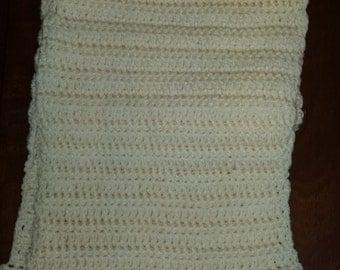 hand crochet long scarf