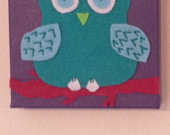 Owl on Branch. MADE TO ORDER.